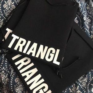Triangl Drawstring bags